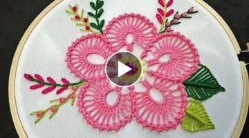 Bead Stitch Flower Embroidery