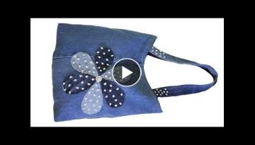 DIY Easy Hand Bag | Old Cloth Reuse Ideas
