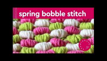 Spring Bobble Stitch Knitting Pattern