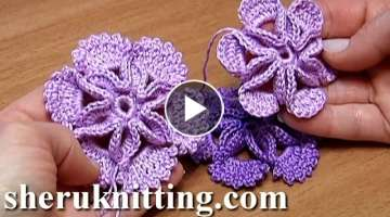 Crochet 3D Center Flower Tutorial