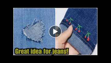 Great idea for jeans!