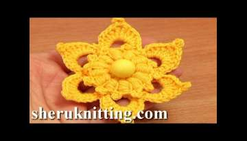 Crochet Flower Puff Stitch Center Tutorial