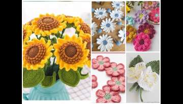 The simple crochet flowers