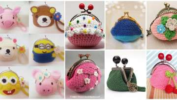 Crochet coin purse for woman