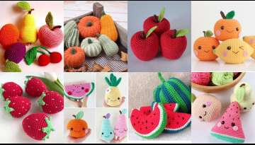 Create 4 fruit crocheted patterns