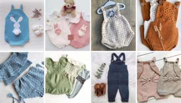 how to knit a knitted baby romper