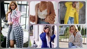 Knitted cardigan models