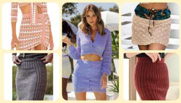 crochet skirt designs