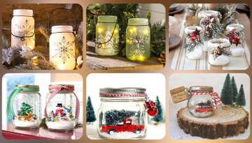 glass bottle and glass jar decoration ideas