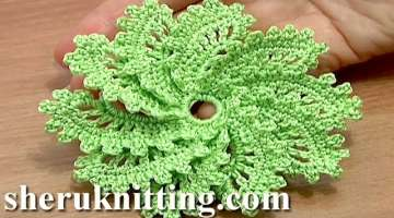 How to Crochet Spiral Flower Pattern