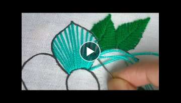 Hand Embroidery fantasy flower