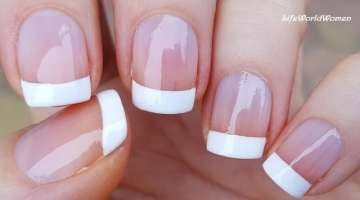 5 Ways To Make FRENCH MANICURE NAIL ART