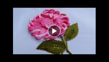 Hand Embroidery: Brazilian Embroidery Flower