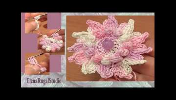 How to Crochet Flowers Free Patterns Tutorial