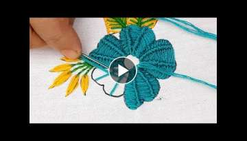 Hand embroidery Spider stitch design