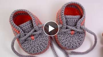 DIY crochet baby sneakers