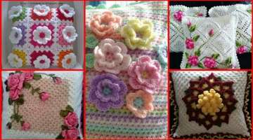 Beautiful latest stylish crochet cushion collection