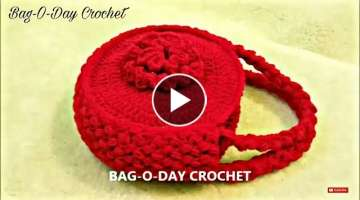 How to Crochet Flower Handbag