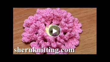 Crochet Flower How To With Zig Zag Petals and Picots Tutorial