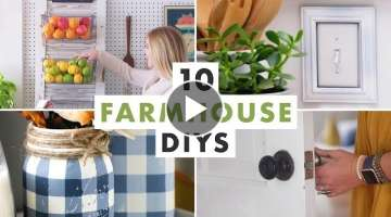 10 Farmhouse DIYs