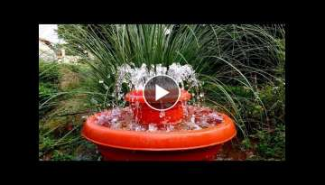 How to make Outdoor Fountain used Plastic Pots