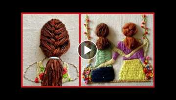 Hair Style Hand Embroidery Patterns