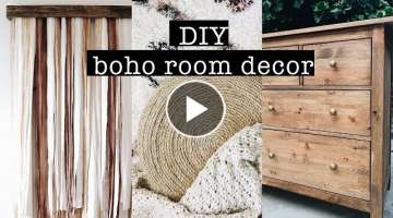 DIY BOHO ROOM DECOR
