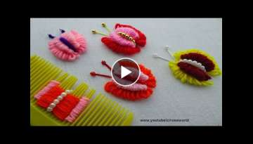double layer Butterfly Embroidery Trick