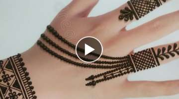 Easy Jewellery style mehndi design