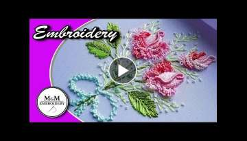 Embroidery: Brazilian Rose