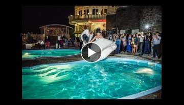 Wedding Pool Jumping.