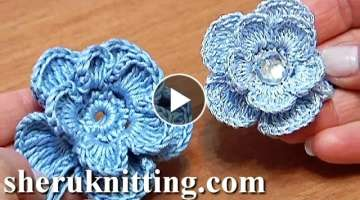 Crochet 3D Layered Flower