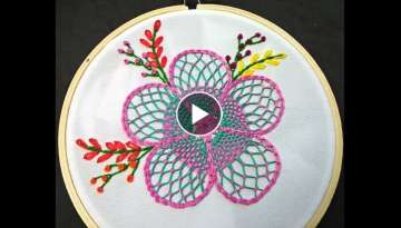 Flower Embroidery Tutorial