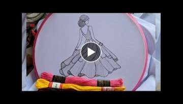 Amazing Hand Embroidery Doll design tutorial