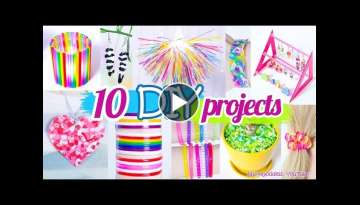 10 New Amazing Drinking Straw Crafts and Life Hacks