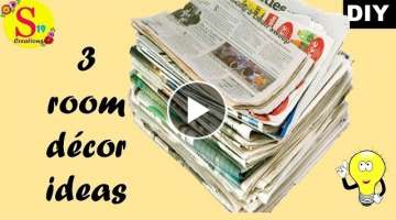 newspaper crafts for home decoration easy