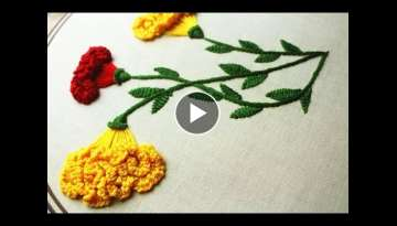 Hand embroidery designs flower design