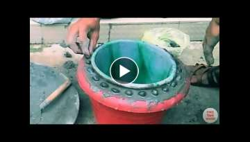 Amazing flower pot making