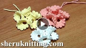 Crochet Folded Petal Flower With Picots