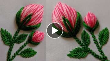 Hand Embroidery New Flower peony bud