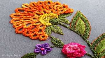 Brazilian Embroidery flowers