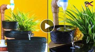 Beautiful tabletop fountain with container