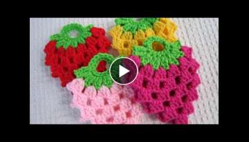 How To Make Crochet Strawberry Coasters