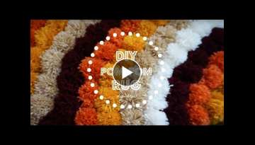 DIY Pom Pom Rug | DIY Home Decor
