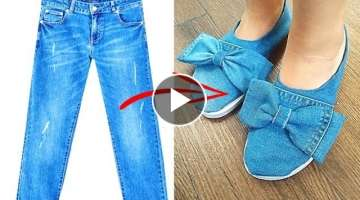 DIY REUSE/RECYCLE OLD JEANS