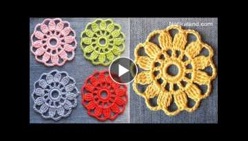EASY for beginners CROCHET Motif Flower
