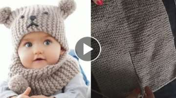 Simple new born baby cap Knitting Design