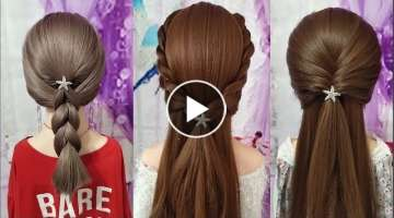 Easy hairstyles tutorial for girl !
