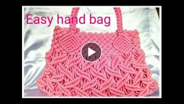 EASY Macrame hand bag tutorial