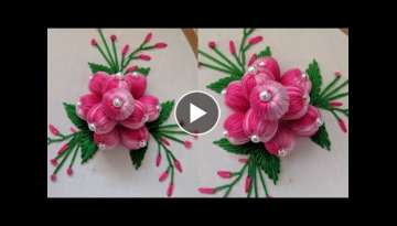 Beautiful Hand Embroidery 3d Flower Design stitch/idea